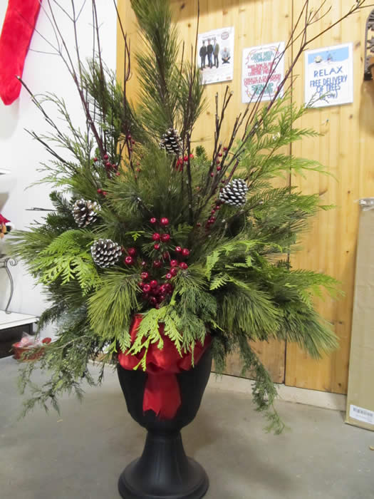 Decorating Ideas > Wreaths And More!  Jensens Nursery And Garden Centre ~ 101404_Christmas Decorating Ideas For Outdoor Pots