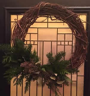 grapevine wreath, winter grapevine wreath, christmas grapevine wreath, wreaths for winter, jensen nursery christmas