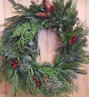 winter wreath, wreath class, winter wreath class, wreath classes winnipeg, winnipeg christmas crafts, jensen nursery christmas