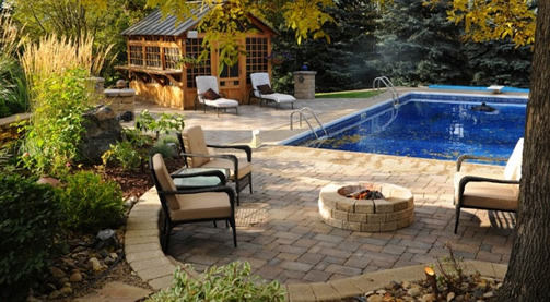 Roman Paver Barkman Products Pavers For Pool Area Retaining Wall By